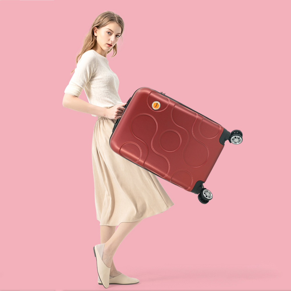 vali nhựa immax x12 màu đỏ